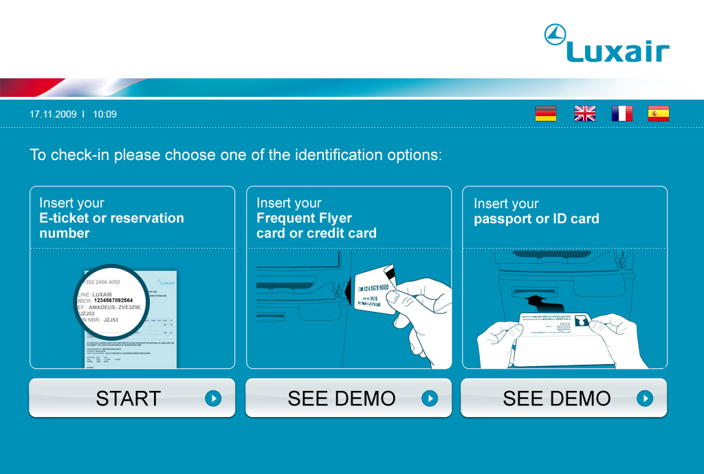 Borne Check-in Luxair